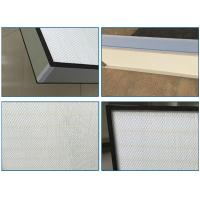 Cheap Top Side Gel Seal Clean Room HEPA Filters , Leak Proof High Flow HEPA Filter H14 for sale