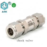 Cheap Stainless Steel 3mm 6mm 8mm Non- Return Valve Gas Check Valve for sale