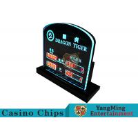 Quality Dragon Tiger Casino Table LED Limited Sign Poker Table Bet Limit Sign For Poker Club Blackjack Table Games wholesale