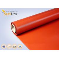 Cheap Red Medium Duty Industrial Fire Blanket Roll Material Silicone Coated Fiberglass Fabric for sale