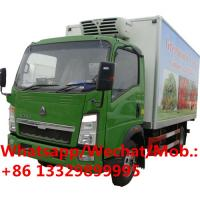 Cheap Cheap price sinotruk howo -5 degree refrigeration unit cooling car with 3ton vegetables transport refrigerated vehicle for sale
