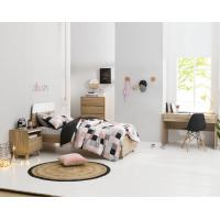 Cheap Apartment Furniture Space Saving Bedroom Modern Design of Single Bed with Nightstand in Fashion interior Desk for sale