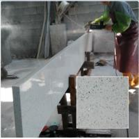 China QS516 Artificial Solid Surface White Quartz Stone for Kitchen Countertops on sale