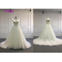 Fashion Ivory Ball Gown Wedding Dress / Maxi Floor Length Strapless Ball Gown