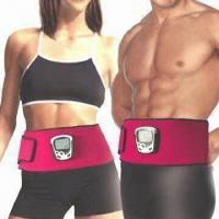 Cheap Slimming Neoprene Belts with LCD and Four Silicone Conducting Patches for sale
