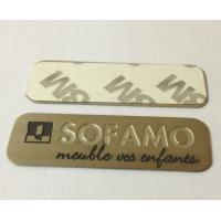 Cheap Stainless steel name plate with chemically etched letters, 3M adhesive sticker sign plates for sale
