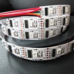 Cheap 5v 12v 24v DMX512 5050 rgb white full color DMX Signal 32pixels 48pixels rgb addressable led strip with dmx512 IC for sale