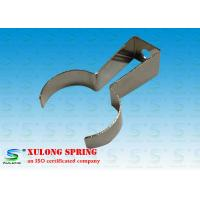 China Fexible Automotive Custom Flat Springs / Flat Metal Spring Clips Nickel Coated on sale
