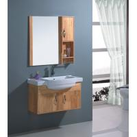 Solid wood material porcelain bathroom vanity 80 x 46 cm size