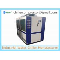 China 109kw 30 Ton Air Cooled Scroll type Refrigeration Water Chiller with Internal Tank and Water Pump on sale