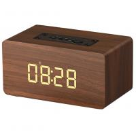 Cheap Wooden Wireless Alarm Clock Bluetooth Speaker with mp3 display bookshelf speaker for sale