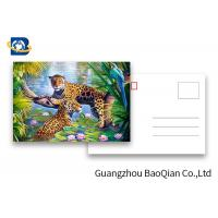 Cheap Customized Size 3D Lenticular Postcards Wild Animals Pattern Pictures UV Printing for sale