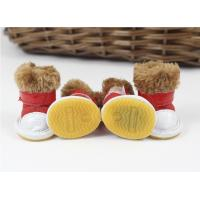 Cheap Party anti slip S , M , XL pet dog shoes winter With chamois for sale