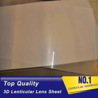 Cheap High quality 51X71CM 0.25MM PET Lenticular Lens Film sheet lenticular lenses  for 3d lenticular printing service Baharin for sale