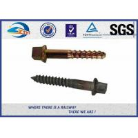 Cheap 40Mn2 20MnSi Fixing Railway Sleepers Square Head Screw Spike for sale