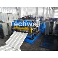Cheap 7.5KW Metal Tile Roll Forming Machine For Color Steel / Galvanized Coil for sale
