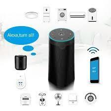 Cheap Internet Smart Alexa Compatible Speakers Black Google Assistant Speaker for sale