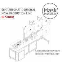 Cheap Semi-auto Medical Surgical Face Mask Making Machine Production Line in STOCK for sale
