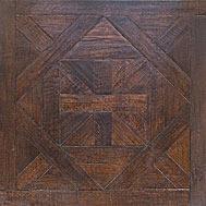 Cheap dark walnut color Bordeaux pattern parquet flooring for sale