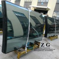 China Curved Tempered Insulated Glass Bend Units IGU Double Glazed Bent Price on sale