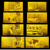 Buy cheap Euro Set 24 Karat Gold Foil Banknotes , Engrave Gold Bank notes from Wholesalers