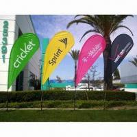 Cheap Flying Flag Banner Display with Single/Double Sides and Up to 1.8m Width for sale