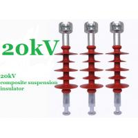 Cheap Red 20kV Polymer Suspension Insulators Minimum Creepage Distance 750mm for sale
