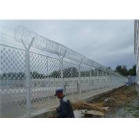 Cheap Hot Dipped Galvanized Anti Climb Fence 1/2X3 Inch Opening For Outdoor Prison for sale