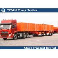 Cheap International standards Tri axle Drawbar Trailer for sand and stone transportation for sale