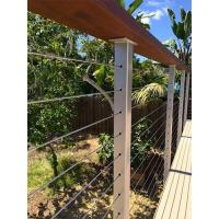 Cheap Cable infill Wire cable railing with wooden top handrail for balcony/ staircase for sale