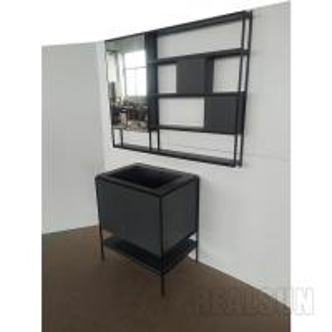 China Waterproof Painted MDF Modern Bathroom Vanity Cabinets Sets American Style on sale