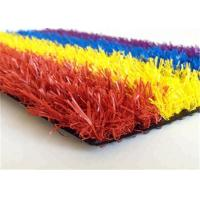Cheap Colorful Synthetic Faux Turf Grass , Artificial Turf Backyard For Kindergarden for sale