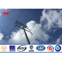 Cheap Round Hot Dip Galvanized Steel Utility Pole , 6M - 12M Metal Lighting Poles for sale