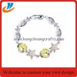 Cheap Zinc alloy Fashion Jewelry metal Bracelet with Diamond for custom for sale