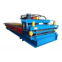 Cheap High Power Color Steel Roll Forming Machine Metal Roofing Machine With Hydraulic Cutting Device for sale