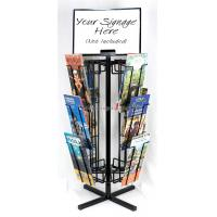 Cheap Free Standing Rotating Retail Display Fixtures With Metal Brochure Display Rack for sale