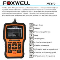 Cheap FOXWELL NT510 OBDII Car Diagnostic Scan Tool , Multi-system Code Reader Scanner for sale
