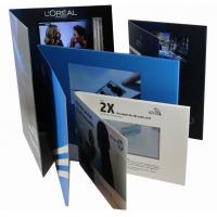 China 2.4 inch Full colors Video Greeting Card with rechargeable battery , 2G  memory on sale