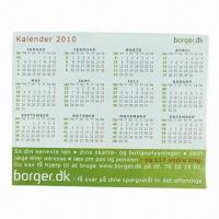 Cheap Refrigerator Magnetic Calendar, OEM Orders are Welcome for sale