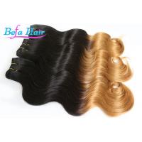 Cheap Brazilian Soft 25 inch Two Color Ombre Remy Hair Extensions Body Wave for sale
