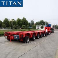Cheap TITAN 8 lines 16 axles self propelled modular transporters hydraulic trailer for sale