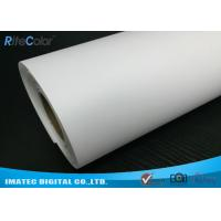 Cheap Giclee Eco Solvent Media , 260gsm Silky Polyester Glossy Inkjet Canvas Rolls wholesale