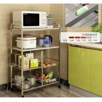 Quality Kitchen Stainless Steel Storage Racks On Wheels Adjustable With 4-6 Tier wholesale