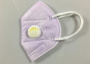 Cheap Light Purple Non Woven Flat Fold KN95 Dustproof Mask for sale