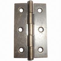 Cheap 2.5-inch Steel Door Hinge, Antique Brass-plated, Customized Designs are Accepted for sale