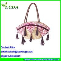 Cheap Luda European Style Shoulder Wheat Straw Bags for LDWS-A099 for sale