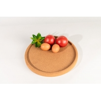 China Factory Wholesale 11.75 Round Recycled Cork Tray for Fruit, Snacks or Coffee on sale