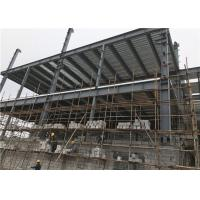 Cheap Customized Size Steel Frame Structure Building / Multi Storey Construction for sale