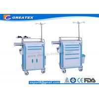 Buy cheap Easy Clean ABS Emergency Trolley Hospital Linen Trolley With Drawer from wholesalers