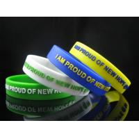China AUTISM AWARENESS WRISTBAND, silicon bracelet, filled in colour Sports Silicone Bracelets on sale